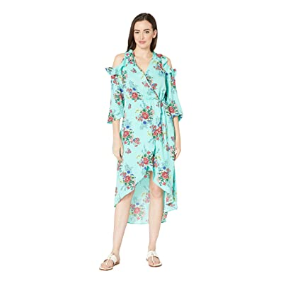 Rock and Roll Cowgirl Cold Shoulder Dress D4-9631 (Mint) Women