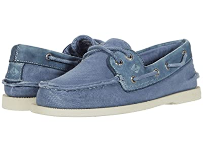 Sperry A/O 2-Eye Garment Wash (Navy) Men