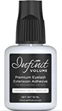 Infinit VOLUME Safe and Latex Free Professional Grade Eyelash Extension Glue for Individual Lashes, Black – 10ml