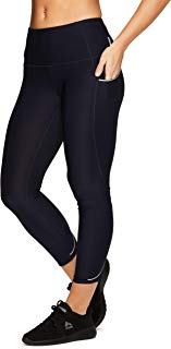 RBX Active Women's Athletic Gym Workout Yoga Capri Length Legging Mesh