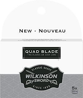 Wilkinson Sword Quad Blade Razor Blades Refills, 5 Count