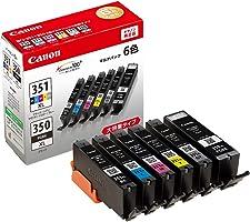 Canon 正品 墨盒 BCI-351XL(BK/C/M/Y/GY)+BCI-350XL 6色多包 大容量型 BCI-351XL+350XL/6MP
