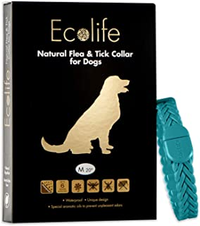 Ecolife All Natural Flea and Tick Collar for Dogs and Puppies Providing Flea and Tick Prevention for 6 Months Waterproof