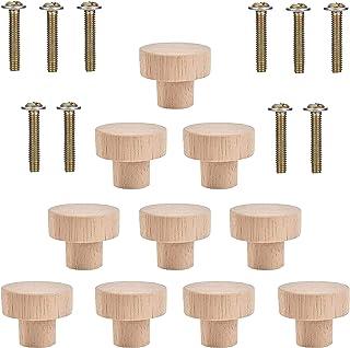 10 stuks Meubelknoppen Kastknoppen Houten Deur Lade Handvatten Kastknoppen Met Schroeven Ronde Paddestoelvormige Duurzame ...