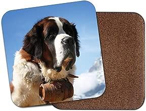 Bernard Rescue Dog Coaster - Zermatt Switzerland Matterhorn Mountain Gift #12732