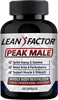 Peak Male - Complete Boost for Libido, Stamina, Endurance, and Strength - Men's Test Booster to Raise Low T Levels, Improve Mood, Increase Energy - Natural Herbal Supplement - 120 Pills
