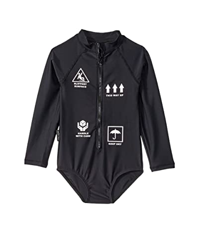 TINY TRIBE With Care All-In-One Rashie (Toddler/Little Kids) (Black) Girl