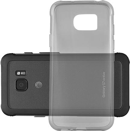 77f73e33c2b Cadorabo Funda para Samsung Galaxy S7 Active en Transparente Negro –  Cubierta Proteccíon de Silicona TPU