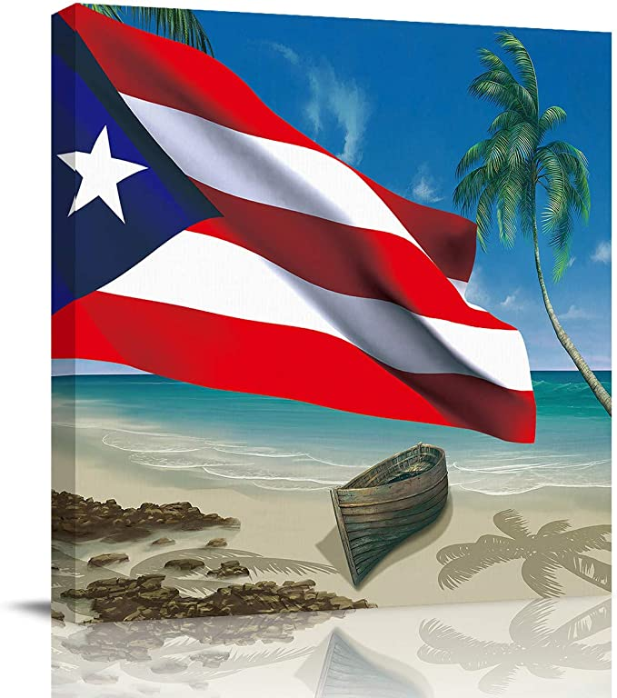 Original beach ocean themed wall art Puerto rican tropical coastal wall art canvas Puerto rico wall art ocean painting on canvas