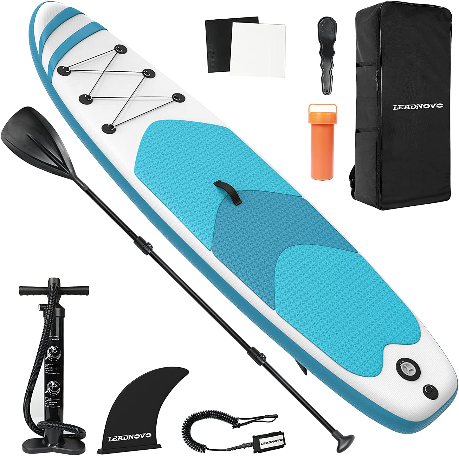 LEADNOVO Inflatable Stand Up Paddle Board for Adults 付与 訳あり with 10.5'