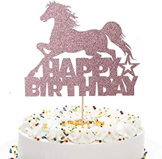 1st Birthday Party Decor Western Party Decor Sparkly Number Cake Topper Party Supplies Horse Birthday Candle Keepsake Candle Country