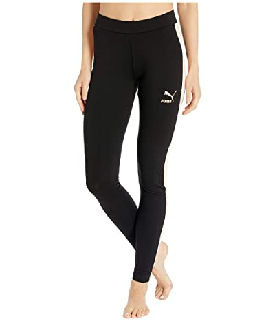 PUMA Classics Logo T7 Leggings (Black) Women