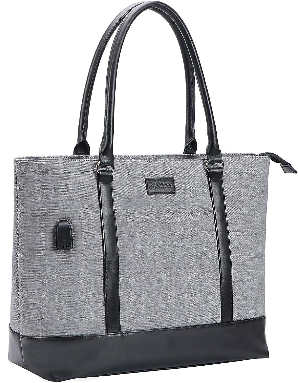 Laptop Tote Bag Working Manufacturer OFFicial shop for with USB Women Nashville-Davidson Mall 15.6 Inch