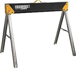 ToughBuilt - Folding Sawhorse/Jobsite Table - Sturdy, Durable, Lightweight, Heavy-Duty, 100% High Grade Steel, 1100lb Capa...