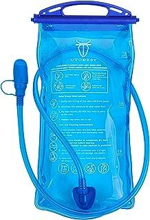 UTOBEST Bolsa de hidratación de 1,5 l, 2 l, para mochila, sistema de hidratación con manguera para correr, senderismo, cic...