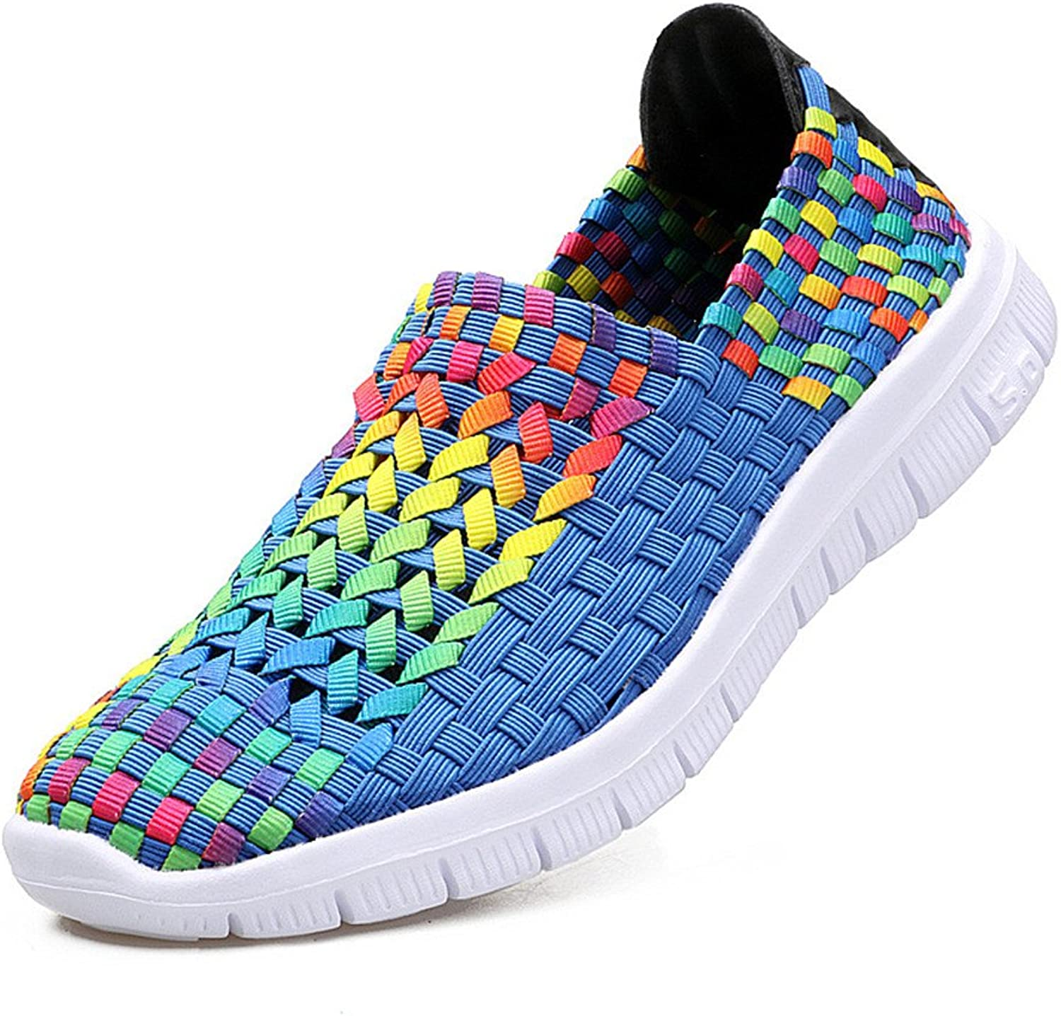Unyielding1 Female Hand-Woven shoes Women's shoes Korean Mother shoes Breathable Elastic Sports Floor shoes