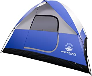 6-Person Tent, Water Resistant Dome Tent for Camping with Removable Rain Fly and Carry Bag, Rebel Bay 6 Person Tent by Wakeman Outdoors
