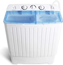 SUPER DEAL Pro Mini Compact Twin Tub Washing Machine 17.6lbsWasher and Spinner Ideal for Dorms, Apartments, RV