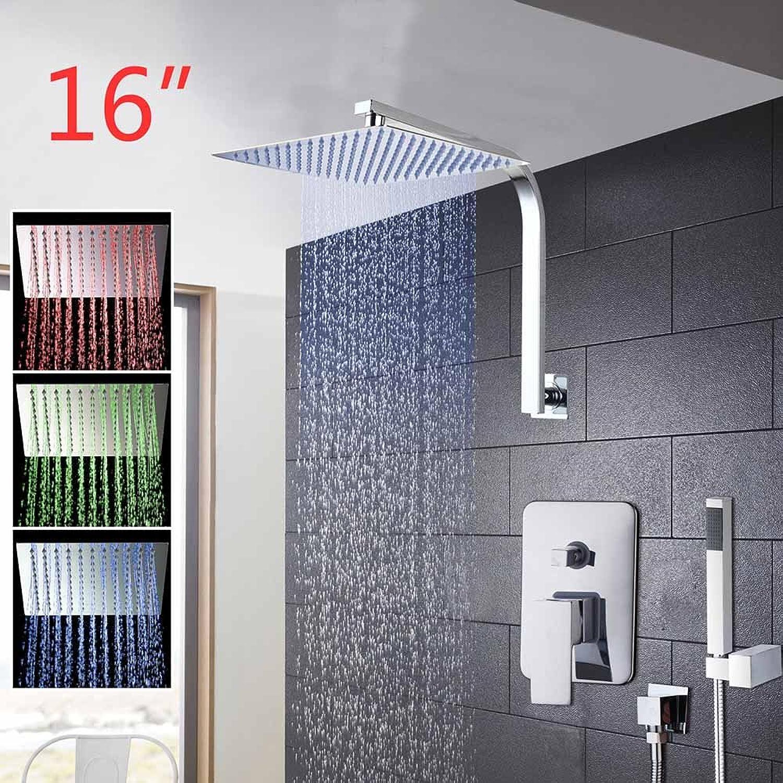 Luxurious shower OUBONI 8  12  16  regen Duschkopf System Chrom poliert Bad & Dusche Wasserhahn Bad Luxus Regen Mixer Dusche Combo Set ,03