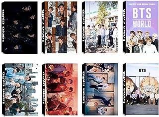 8 Pack/240 Pcs BTS Lomo Card KPOP Bangtan Boys Photocards Black Swan, Love Yourself Answer Greeting Card with Postcards Box