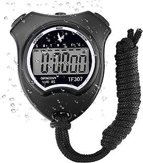 Cronómetro Deportivo Digital Cronómetro, Cronógrafo de Mano Reloj Digital Cronómetro con Alarma para natación fútbol, Cron...