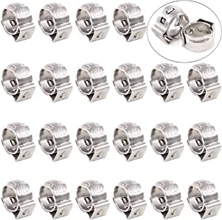 Swpeet 35Pcs 6mm-7mm 304 Stainless Steel Single Ear Hose Clamps Assortment Kit Perfect for Automotive, Home Appliance Line