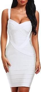 Bqueen Women's Spaghetti Strap Bodycon Bandage Dress BQ1636-1
