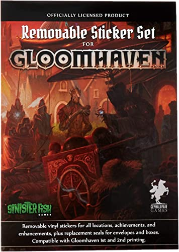 Impressions Current Edition Gloomhaven Removable Sticker Set Board Game