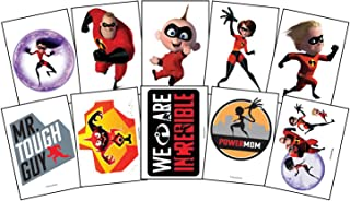 Large Incredibles 2 Temporary Tattoos - 3.5