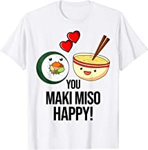 Lustig Sushi Maki Japanisches Essen Spruch Wasabi Soja T-Shi