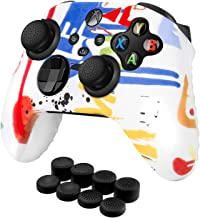 TNP Capa para controle + conjunto de 8 garras para polegar (tinta) compatível com Xbox Series X/S – Gel de silicone antide...