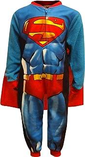 Komar Kids Boy's Superman Caped Costume Fleece Pajama Sleeper