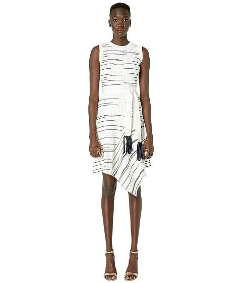 YIGAL AZROUËL Striped Rib Asymmetric Hem Dress