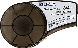 Brady M21-750-595-WT tape voor Lab Pal, Vinyl, 19,1 mm, Wit