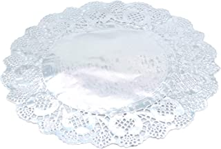 100 Pi/èces De Tapis De Papier Jetables en Dentelle Ronde Dessous De Verre Sets De Table Cake Packaging Paper Pad Papier Absorbant pour Huile flower205 Dessous De Papier Papier De Dessert