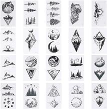 Minkissy 20 Blatt Geometrie Tattoo Aufkleber Dreieck Berg Te