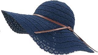 Roffatide Sombrero de Sol Mujer Elegante Encaje de Punto