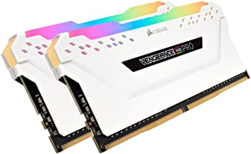 CORSAIR Vengeance RGB PRO 16GB (2x8GB) DDR4 3600 (PC4-28800) C18 Desktop Memory – White, Model Number: CMW16GX4M2D3600C18W