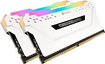 Corsair CMW32GX4M2C3200C16W Vengeance RGB PRO 32GB (2x16GB) DDR4 3200 (PC4-25600) C16 Desktop Memory White