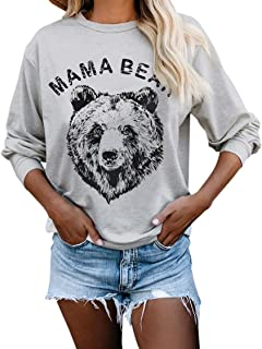 Women Sweatshirts Graphic Pullover Tops Long Sleeve Fashion Shirts