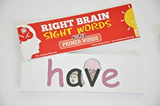 Right Brain Dolch Primer Sight Word Cards