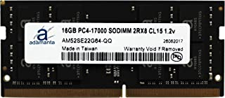 Adamanta 16GB (1x16GB) Laptop Memory Upgrade Compatible for Dell Alienware, Inspiron, Latitude, Precision, XPS DDR4 2133Mhz PC4-17000 SODIMM 2Rx8 CL15 1.2v DRAM RAM