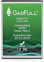 GadFull Batteria compatibile con Samsung Galaxy Note 2 | 2019 Data di produzione | Corrisponde al EB595675LU originale| Compatibile con GT-N7100 | GT-N7105| batteria per il tuo smartphone