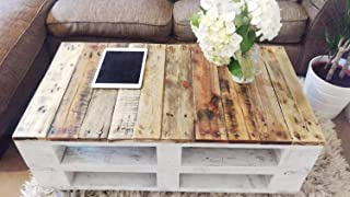 Mesa de palets de madera con ruedas - Mesita Auxiliar &