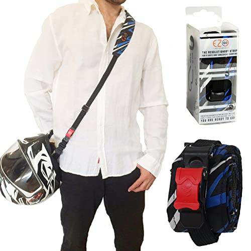 Porte-casque de moto EZ GO – L'accessoire indispensable moto, Mains-libres de porter un casque, motard transportant une sangle durable.