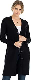 Women`s Basic Snap Button Ribbed Detail Long Sleeve Sweater Cardigan