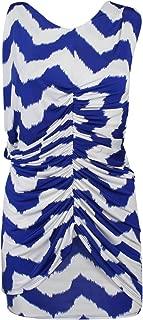 T-Bags Los Angeles Zig Zag Print Dress Blue/White