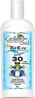 Caribbean Sol Kid Kare SPF 30 6 oz 100% Natural Children's Sunscreen Broad Spectrum Reef Eco Friendly Safe 5062