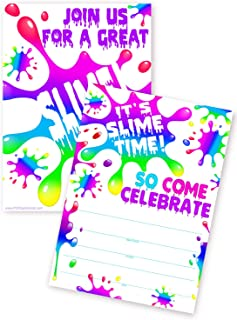 Best slime birthday party invitations Reviews