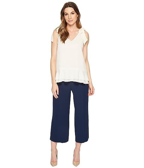 CeCe Short Sleeve V-Neck Layered Blouse Antique White Sale Online Cheap tZoJV6o